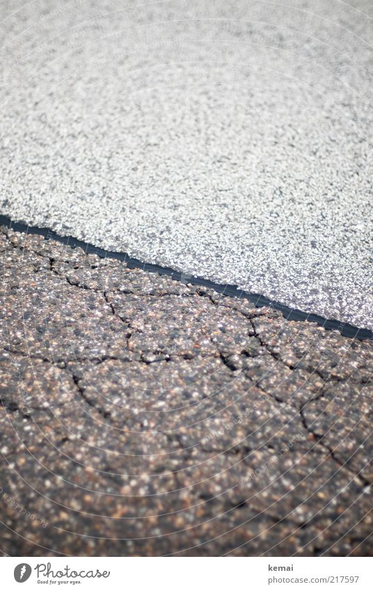 Different coating Traffic infrastructure Street Lanes & trails Highway Asphalt Pavement Coating Ground Floor covering Tar Crack & Rip & Tear Gloomy Gray