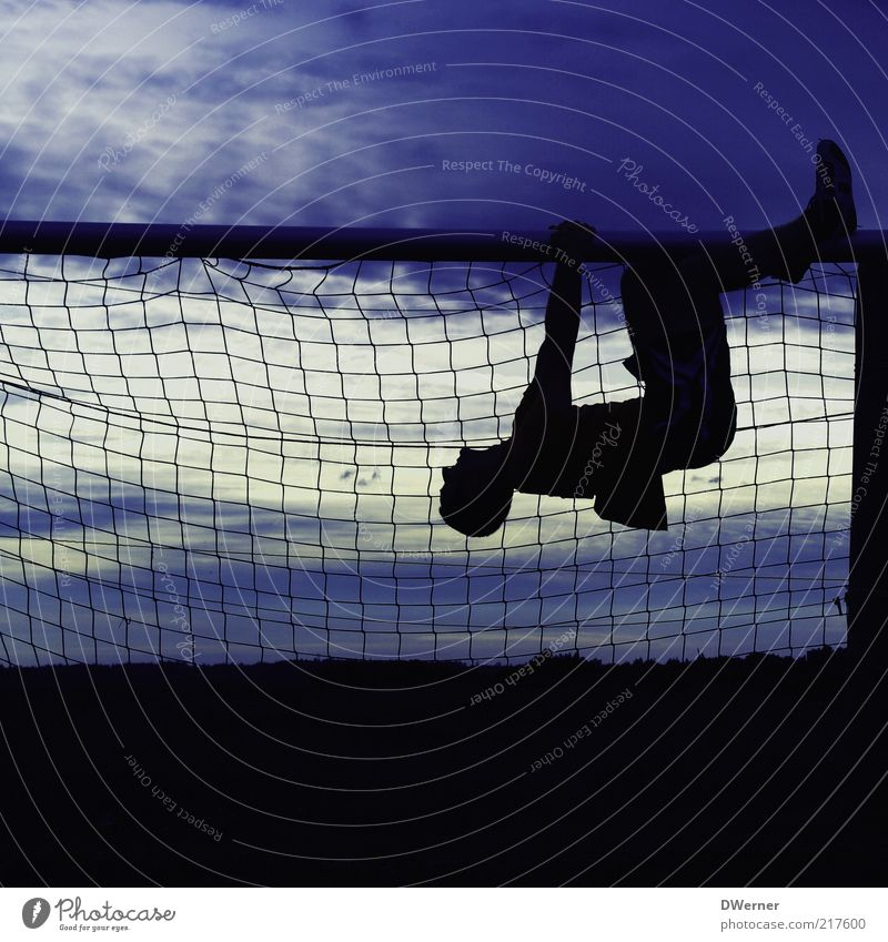 Human being Nature Youth (Young adults) Blue Clouds Calm Black Adults Environment Sports Landscape Style Masculine Corner Illuminate Net