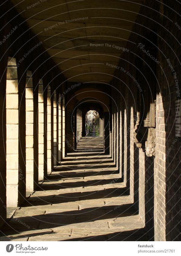 sunset Afternoon Historic Sun Cemetery in London Corridor