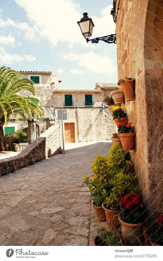 Mallorca. Street Lamp Climate Spain Village Mediterranean
