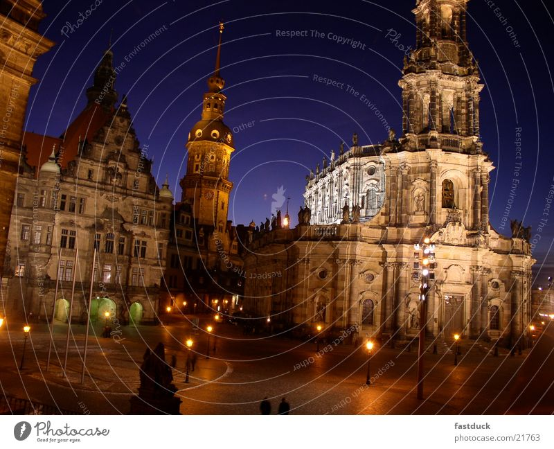 Night silence in Dresden Winter Cold Historic