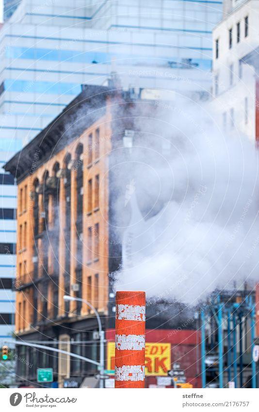 Town Smoke Manhattan New York City Exhaust