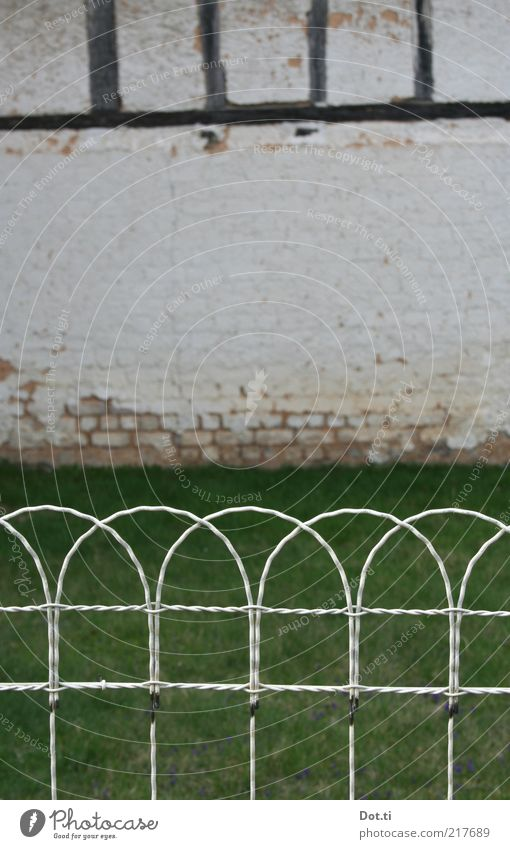 Old House (Residential Structure) Wall (building) Meadow Grass Wall (barrier) Building Garden Facade Lawn Fence Rural Wire Symmetry Barn Rustic