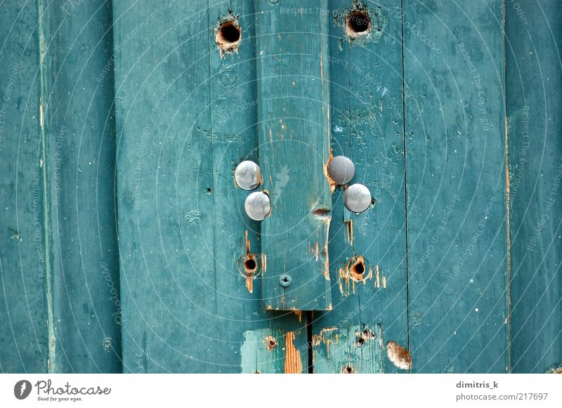 blue wood texture Old Blue Colour Door Background picture Dirty Natural Derelict Decline Crack & Rip & Tear Material Surface Earth hole Weathered Rough Grunge