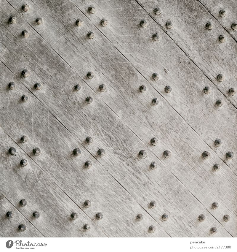 peace of mind Castle Door Esthetic Contentment Wood Metal fitting Safety Colour photo Subdued colour Exterior shot Close-up Detail Abstract Pattern