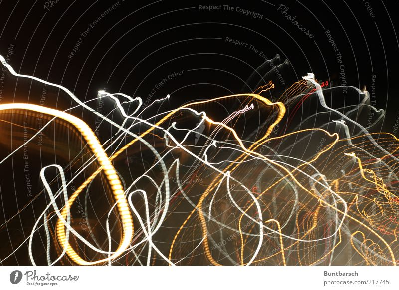 White Red Yellow Movement Curve Chaos Muddled Visual spectacle Bow Arch Pattern Beam of light Strip of light Light painting