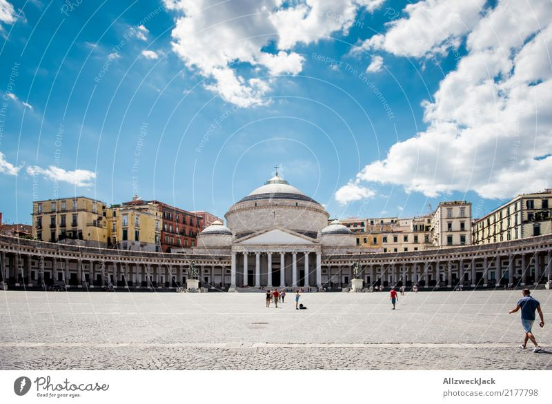 Piazza del Plebiscito in Naples, Italy Luxury Elegant Leisure and hobbies Vacation & Travel Tourism Trip Freedom Sightseeing City trip Summer Summer vacation