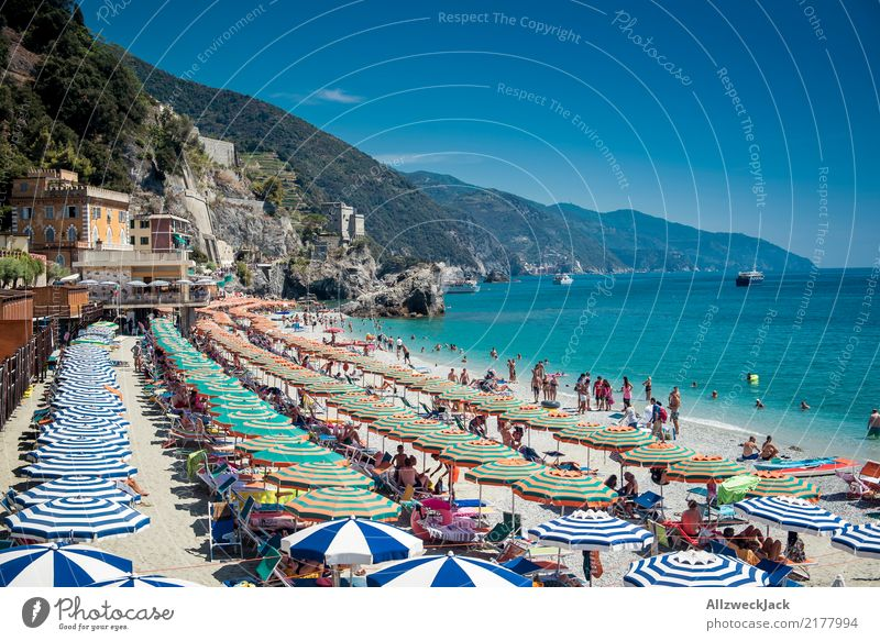 postcard Colour photo Exterior shot Day Vacation & Travel Trip Tourism Bathing place Umbrellas & Shades Sunshade Maximum Intensive stock rearing Summer