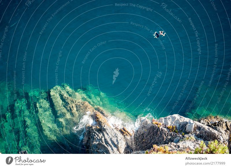 Man Summer Ocean Tourism Freedom Trip Body To enjoy Adventure Summer vacation Bay Ledge 1 Person Rocky coastline