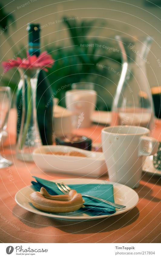 Green Flower Nutrition Glass Table Crockery Cup Bottle Breakfast Plate Food table Bowl Mug Cutlery Tablecloth Fork