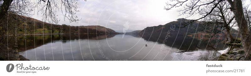 Lake view (Panorama) Lake District National Park Great Britain England Panorama (View) Water Mountain Large Panorama (Format)