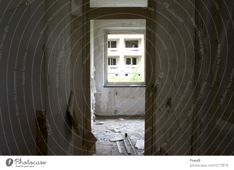 transparency Deserted House (Residential Structure) Window Door Concrete Glass Dark Broken Chaos Apocalyptic sentiment Far-off places Transience Change
