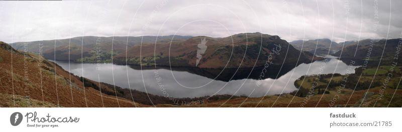 Water Lake Large England Panorama (Format) Lake District National Park