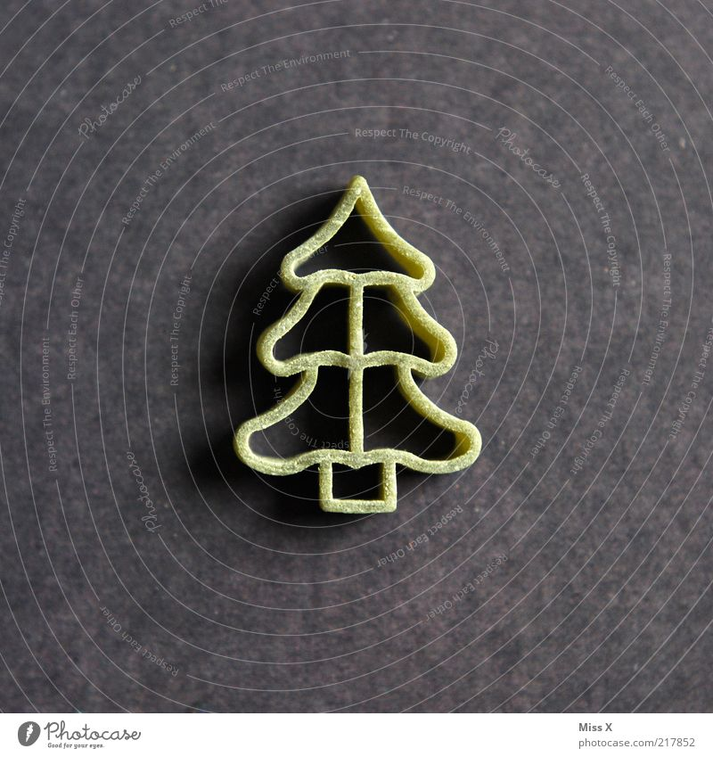 Joh is then heit scho... Food Dough Baked goods Nutrition Vegetarian diet Tree Delicious Dry Raw Noodles Christmas tree Fir tree Colour photo Close-up Deserted