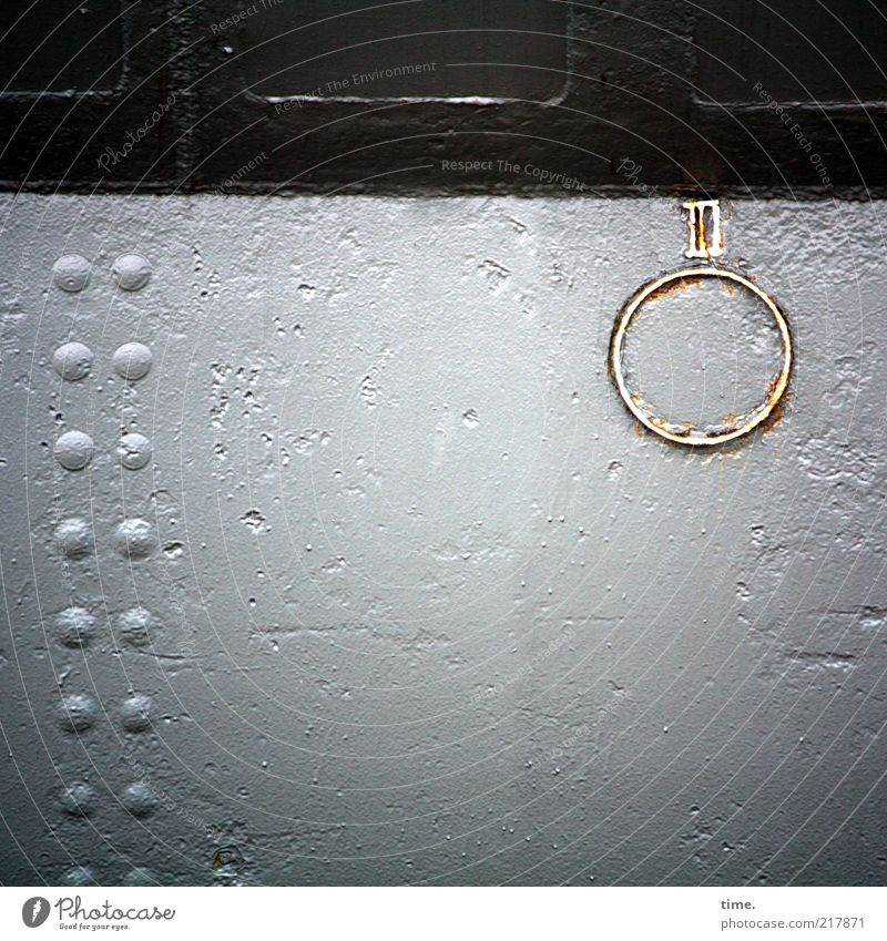 White Colour Window Dye Watercraft Brown Metal Circle Multiple Mysterious Sign Steel Row Furrow Iron Accumulation