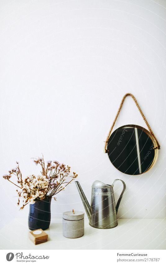 White Flower Wall (building) Lifestyle Interior design Feminine Style Design Bright Flat (apartment) Living or residing Modern Decoration Arrangement Simple