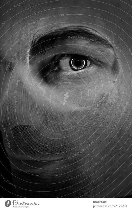 Take a look Fetishism Tights Man Masculine Eyes Looking Face Facial hair Circle ring light Foot fetish Iris Hollow ladder Broken Voyeurism