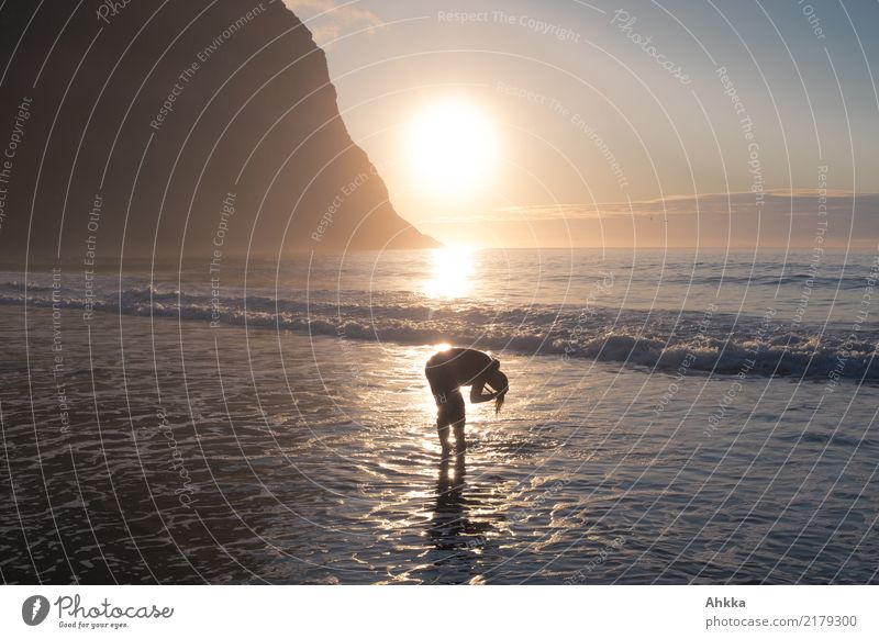 Vacation & Travel Youth (Young adults) Young woman Summer Ocean Coast Happy Swimming & Bathing Moody Together Horizon Free Waves Idyll Perspective