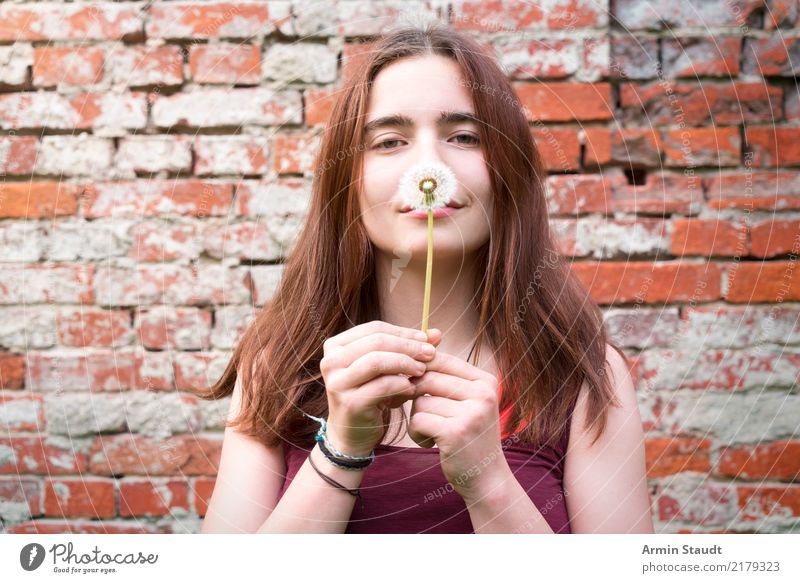 dandelion Lifestyle Style Joy Happy Beautiful Healthy Wellness Harmonious Well-being Contentment Senses Relaxation Human being Feminine Young woman
