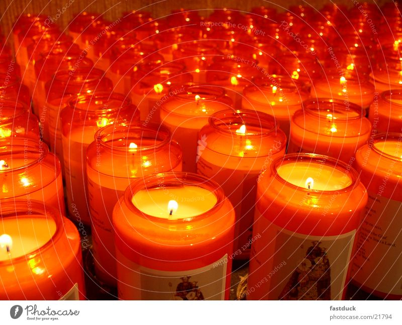Red Yellow Religion and faith Blaze Candle Things Cathedral Luxemburg