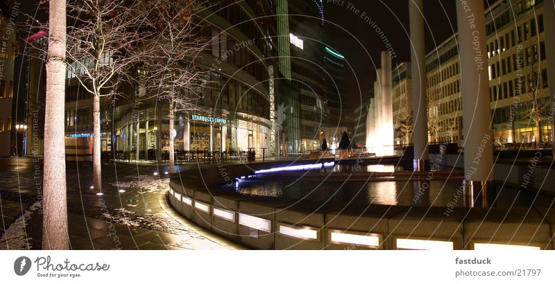 Frankfurter Welle (Panorama) Night Long exposure Black Panorama (View) Light Architecture Water lights Large Panorama (Format)