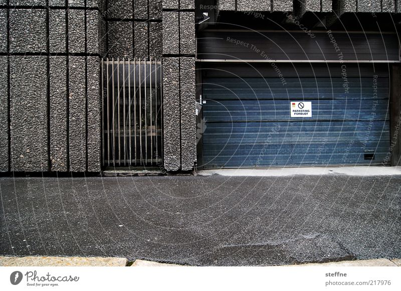 park ring Bad weather Rain Oslo Norway House (Residential Structure) Building Concrete Town Gray Gloomy Parking garage Grating Colour photo Exterior shot