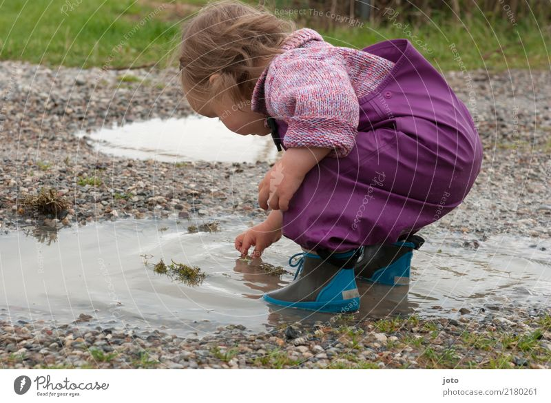 Child Nature Vacation & Travel Autumn Playing Freedom Trip Leisure and hobbies Rain Joie de vivre (Vitality) Adventure Cute Curiosity Touch Discover Rainwater