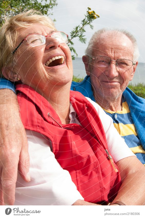 savoury Life Harmonious Well-being Vacation & Travel Summer vacation Valentine's Day Couple Partner Senior citizen 2 Human being 60 years and older Laughter
