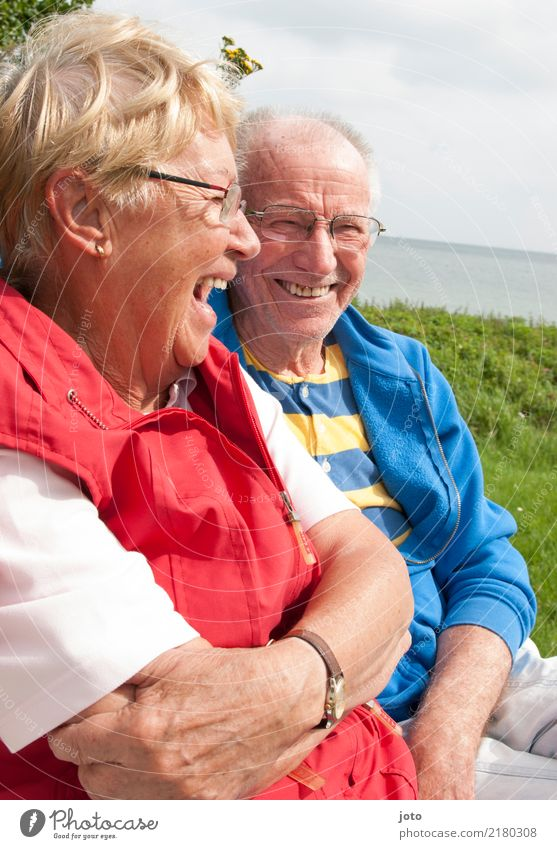 fit of laughter Joy Happy Life Harmonious Well-being Contentment Vacation & Travel Summer vacation Valentine's Day Friendship Couple Partner Senior citizen 2