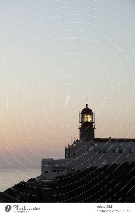 Vacation & Travel Lamp Dark Building Air Contentment Coast Horizon Rock Esthetic Romance Tower Idyll Historic Navigation Lighthouse