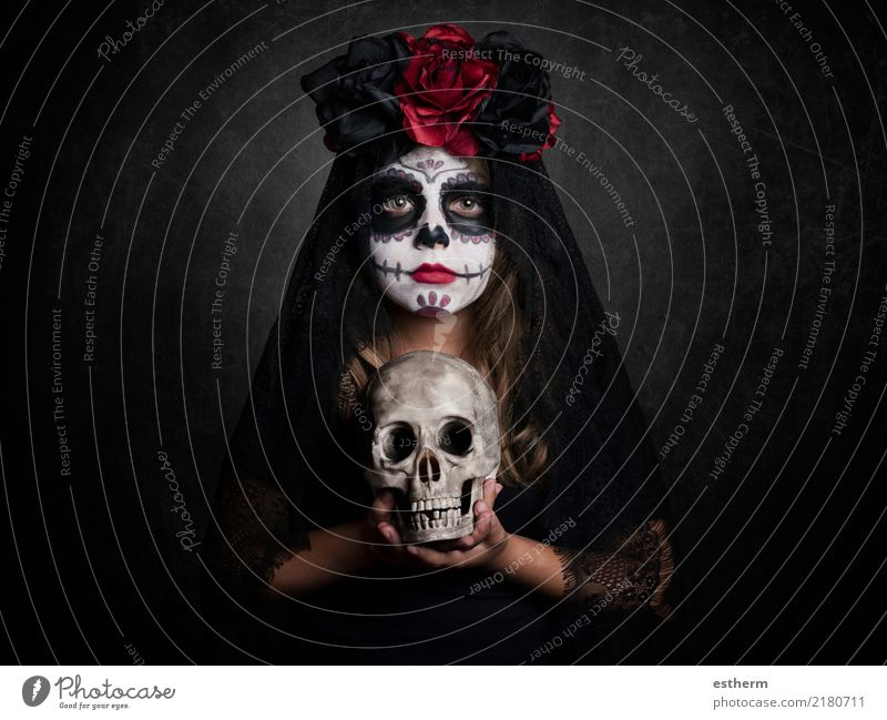 girl on halloween Child Human being Vacation & Travel Beautiful Loneliness Girl Dark Religion and faith Lifestyle Feminine Death Party Feasts & Celebrations