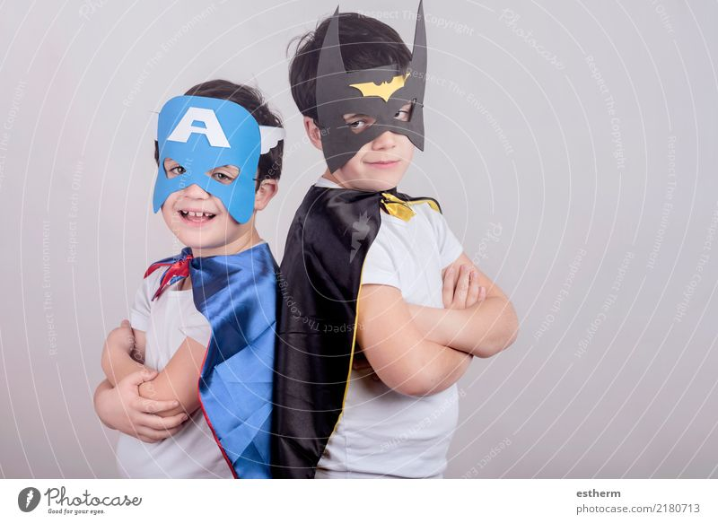 superheros Child Human being Lifestyle Funny Laughter Boy (child) Family & Relations Happy Party Feasts & Celebrations Together Friendship Masculine Infancy