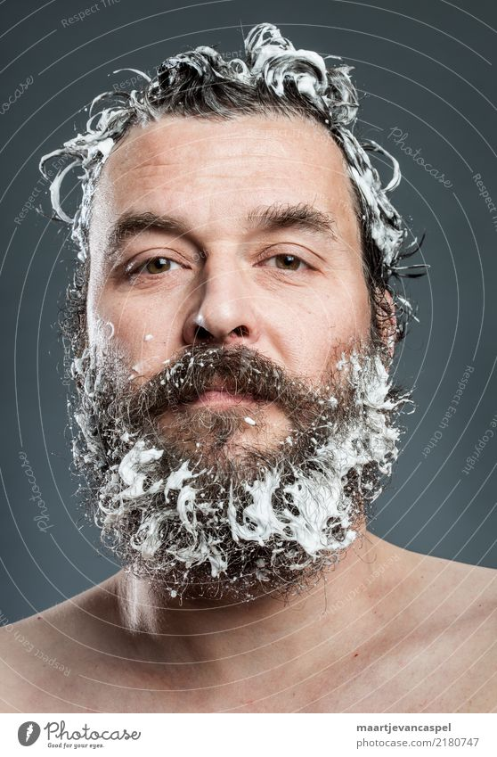 Hipsters must also wash themselves Human being Masculine Man Adults Life Hair and hairstyles Facial hair 1 30 - 45 years Brunette Beard Cleaning Reliability