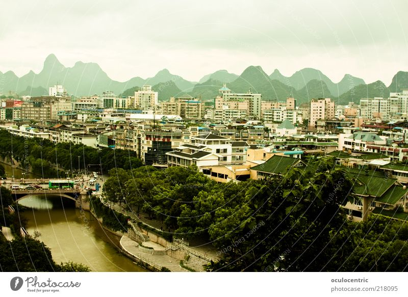 Guilin桂林 Landscape Sky Clouds Summer Weather China Asia Downtown Skyline Populated House (Residential Structure) Esthetic Beautiful Natural Cliche