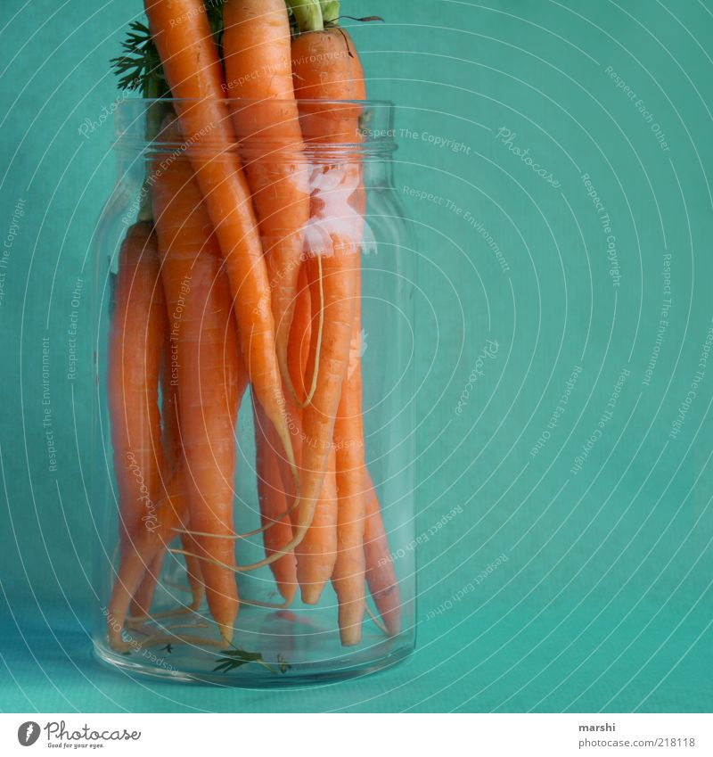 fully organic Food Vegetable Nutrition Carrot Glass Blue Orange Organic produce Vitamin Colour photo Interior shot Keep Exceptional Multiple Deserted