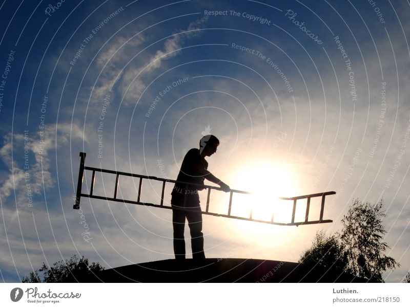 Human being White Blue Black Work and employment Freedom Bright Horizon Discover Illuminate Creativity Ladder Dazzle Utilize Sunset Chimney sweep