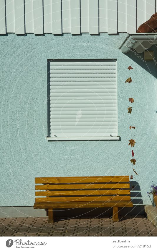 Calm House (Residential Structure) Relaxation Wall (building) Window Garden Wall (barrier) Facade Closed Bench Furniture Section of image Venetian blinds