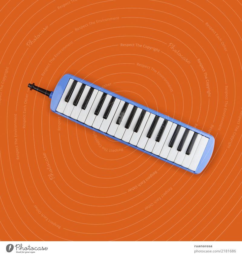 Lonely object nº 3 Music Keyboard Cool (slang) Original Blue Orange Colour photo Multicoloured Interior shot Studio shot Close-up Deserted Bird's-eye view