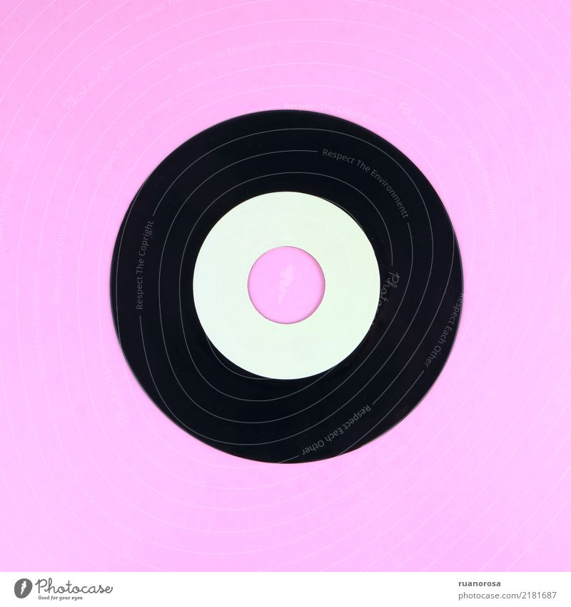 Lonely object nº 2 Music Record Collection Collector's item Plastic Old Esthetic Cool (slang) Thin Elegant Retro Pink Black Nostalgia Tradition Past