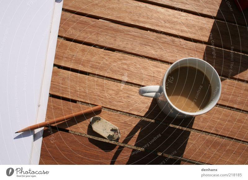 Joy Wood Think Contentment Brown Wait Empty Paper Coffee Break Drinking Simple Serene Pen Cup Idea
