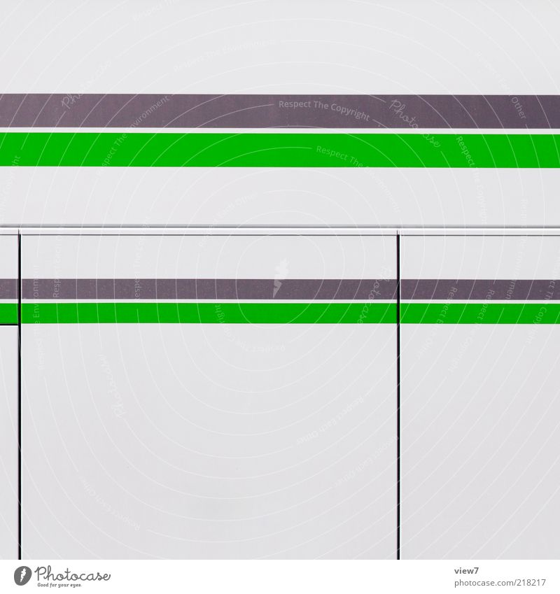 White Green Gray Line Metal Design Elegant Modern Arrangement Esthetic New Authentic Simple Thin Uniqueness Stripe