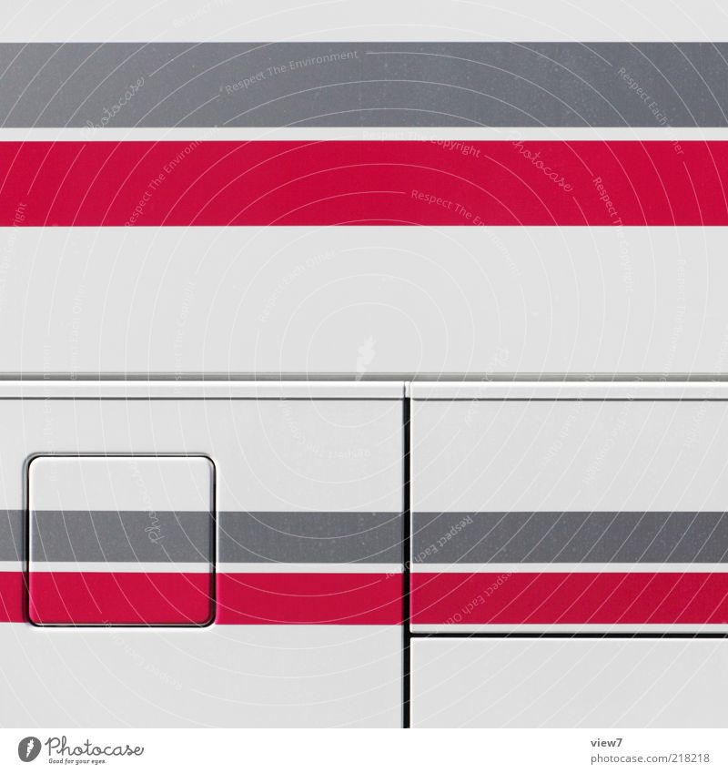 Red Colour Above Gray Metal Line Arrangement Free Esthetic Authentic Stripe Uniqueness Simple Pure Illustration Thin