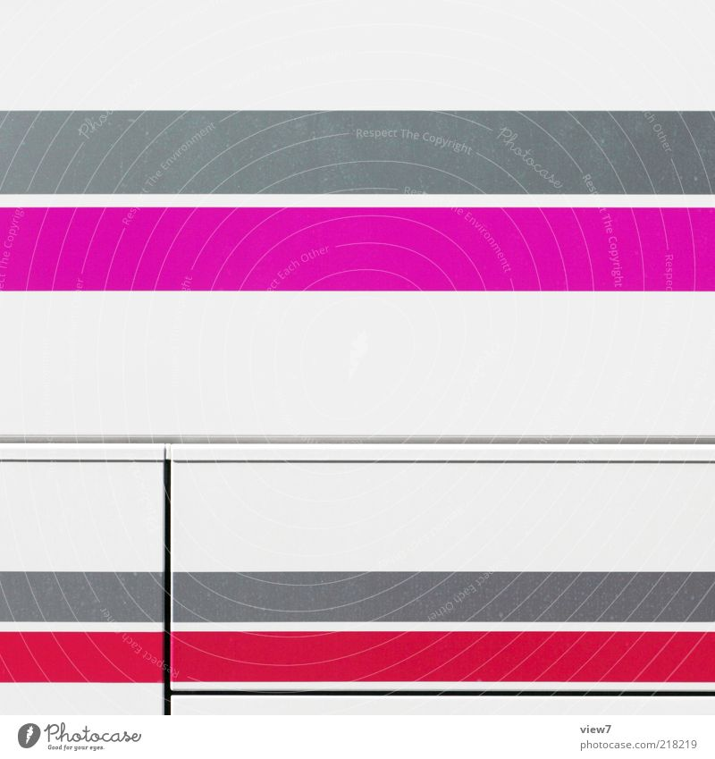 SUPER Bus Metal Line Stripe Authentic Exceptional Thin Sharp-edged Simple Elegant Glittering Uniqueness Modern Pink Red Esthetic Colour Arrangement Illustration
