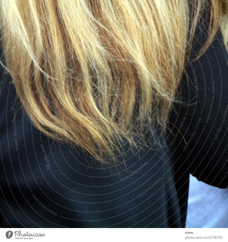 Woman Colour Black Adults Dark Movement Hair and hairstyles Blonde Back Arm Long Dynamics Coat Long-haired Textiles Strand of hair