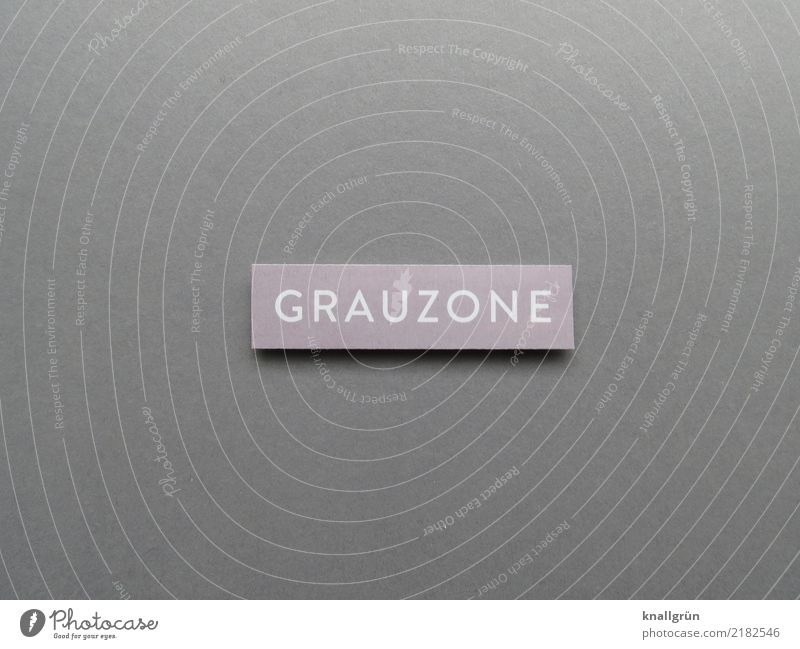grey zone Characters Signs and labeling Communicate Sharp-edged Gray White Unclear doubtfully Border area transition zone Colour photo Studio shot Deserted