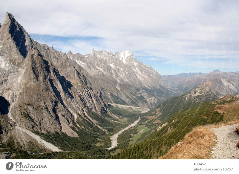 Alps Nature Landscape Mountain Peak Exterior shot Day Panorama (View) Deserted Travel photography