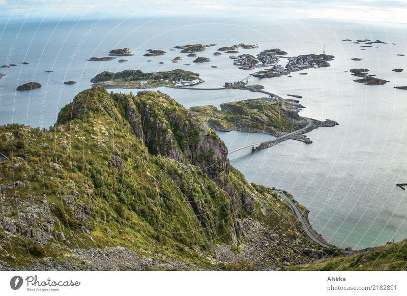 Hennigsvær, Lofoten, island archipelago with complex infrastructure Vacation & Travel Adventure Far-off places Freedom Ocean Climbing Mountaineering Environment