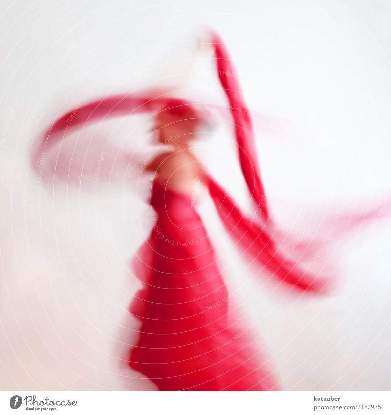 Human being Woman Beautiful Red Adults Feminine Movement Art Exceptional Flying Dream Body Modern Esthetic Power Creativity