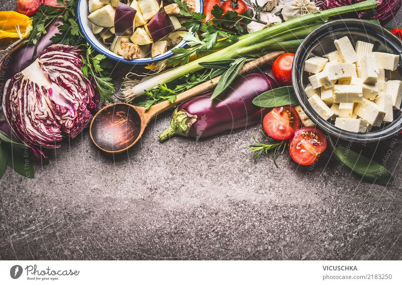 Summer Dish Food photograph Background picture Style Design Nutrition Herbs and spices Vegetable Organic produce Crockery Bowl Dinner Cooking Diet