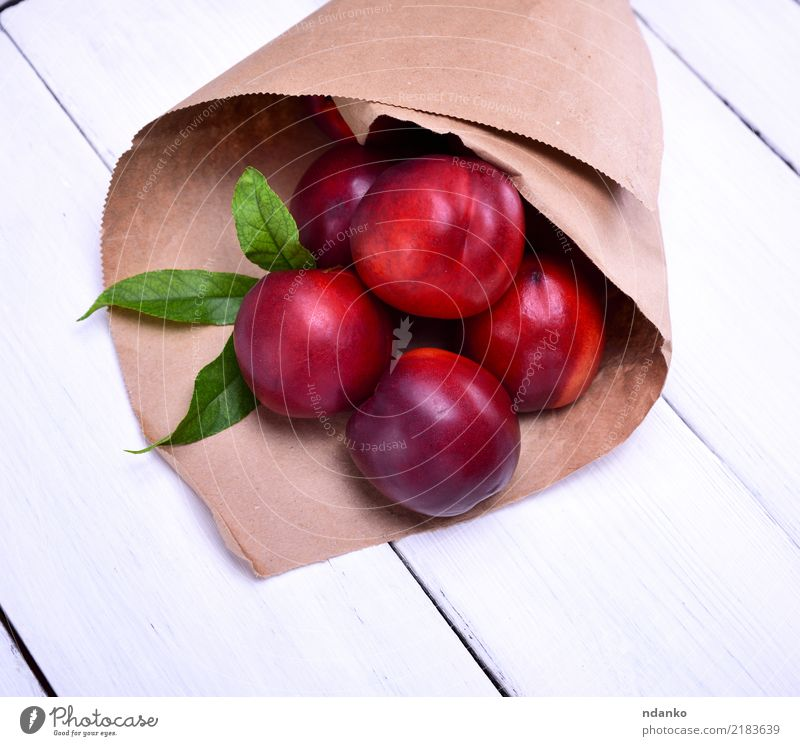 ripe red peaches Fruit Vegetarian diet Diet Summer Garden Nature Paper Fresh Natural Juicy Green Red White Peach background food agriculture Organic close